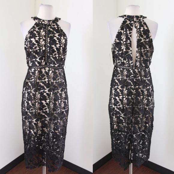 d59e4d16de5 NWT Dear Moon Lace Overlay Juniors Dress
